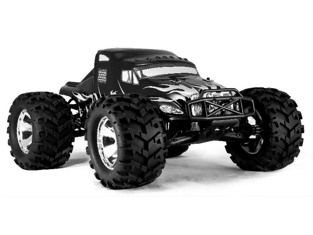 Redcat Racing Earthquake 3.5cc 2-Speed Nitro Semi Truck, Black, 1 8 Scale