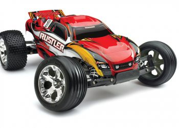 Traxxas RTR 1/10 Rustler with Water Proof XL-5 RTR and 7 Cell Battery with Charger, Red