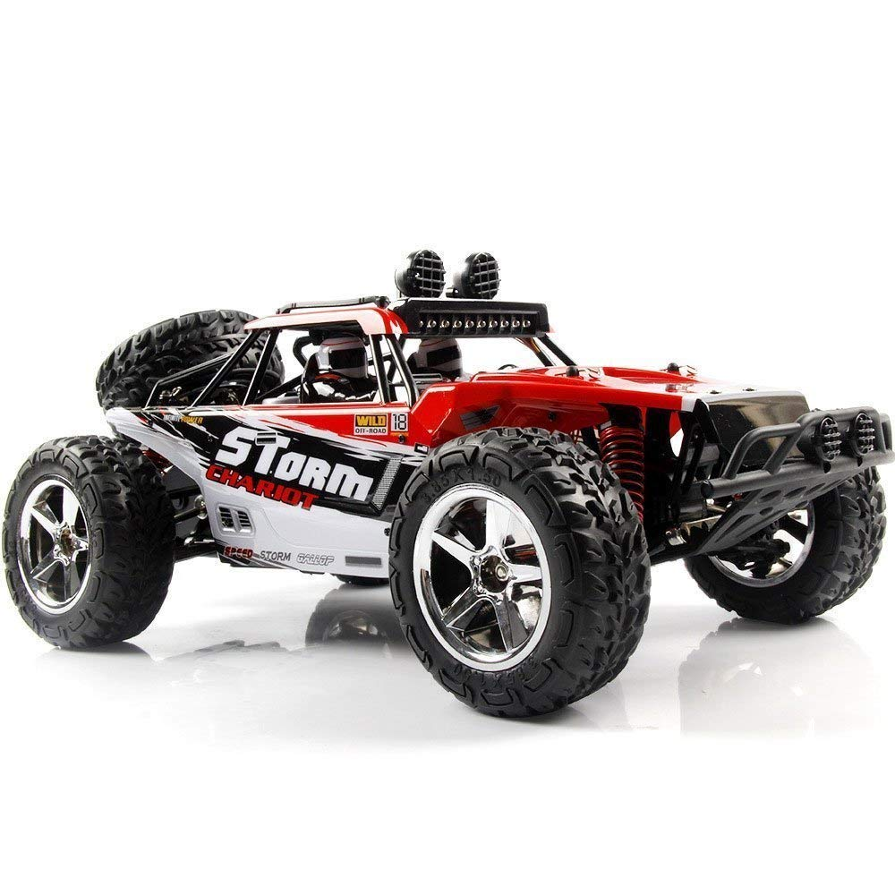 AHAHOO 112 Scale RC Cars 35MPH+ High Speed Off-Road Remote Control Vehicle 2.4Ghz Radio Controlled Racing Monster Trucks Rock Climber with LED Light Vision (Red)