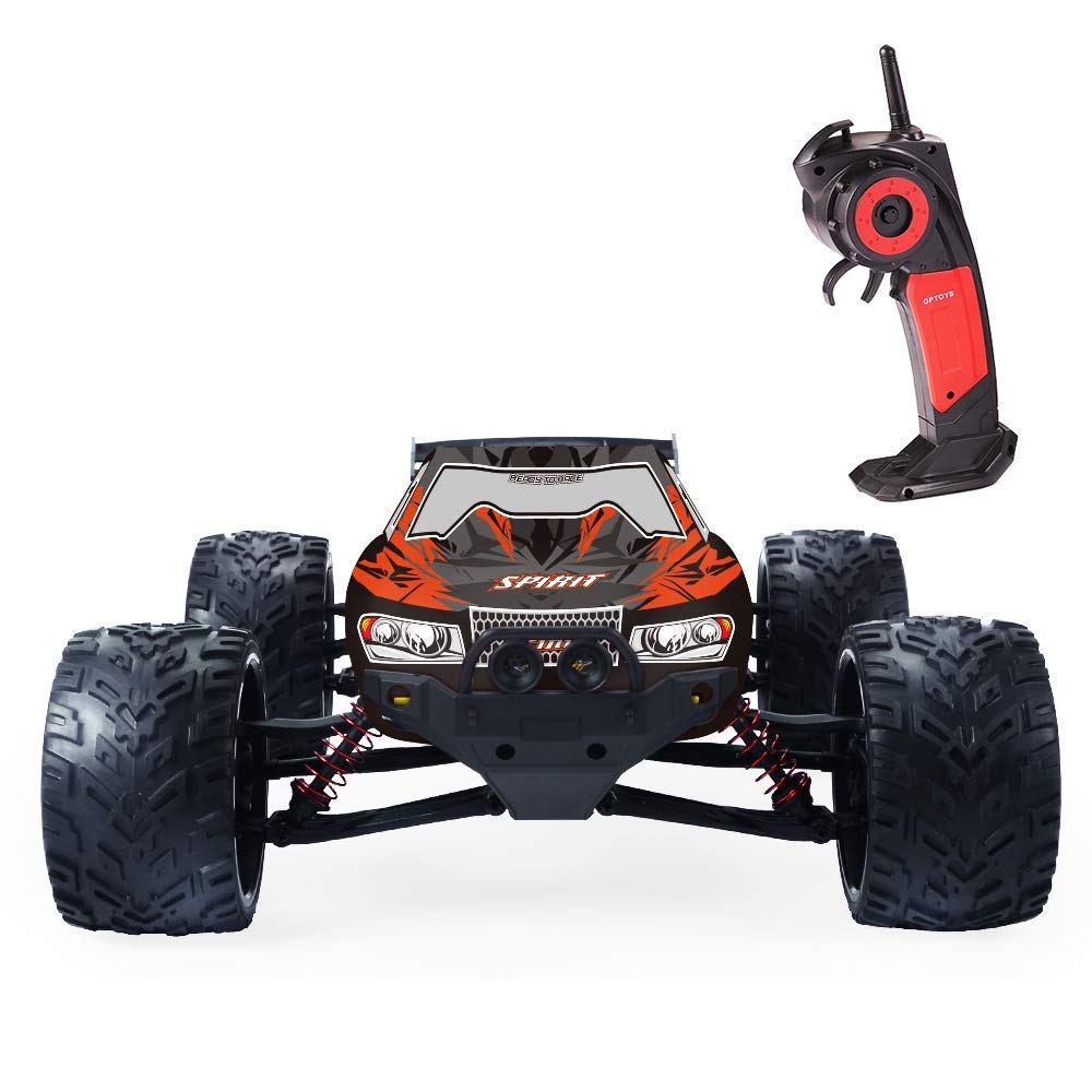 GPTOYS RC Cars 33MPH Remote Control Truck 1 12 Scale 2.4GHz 2WD Off-Road Monster Green (3rd Version)