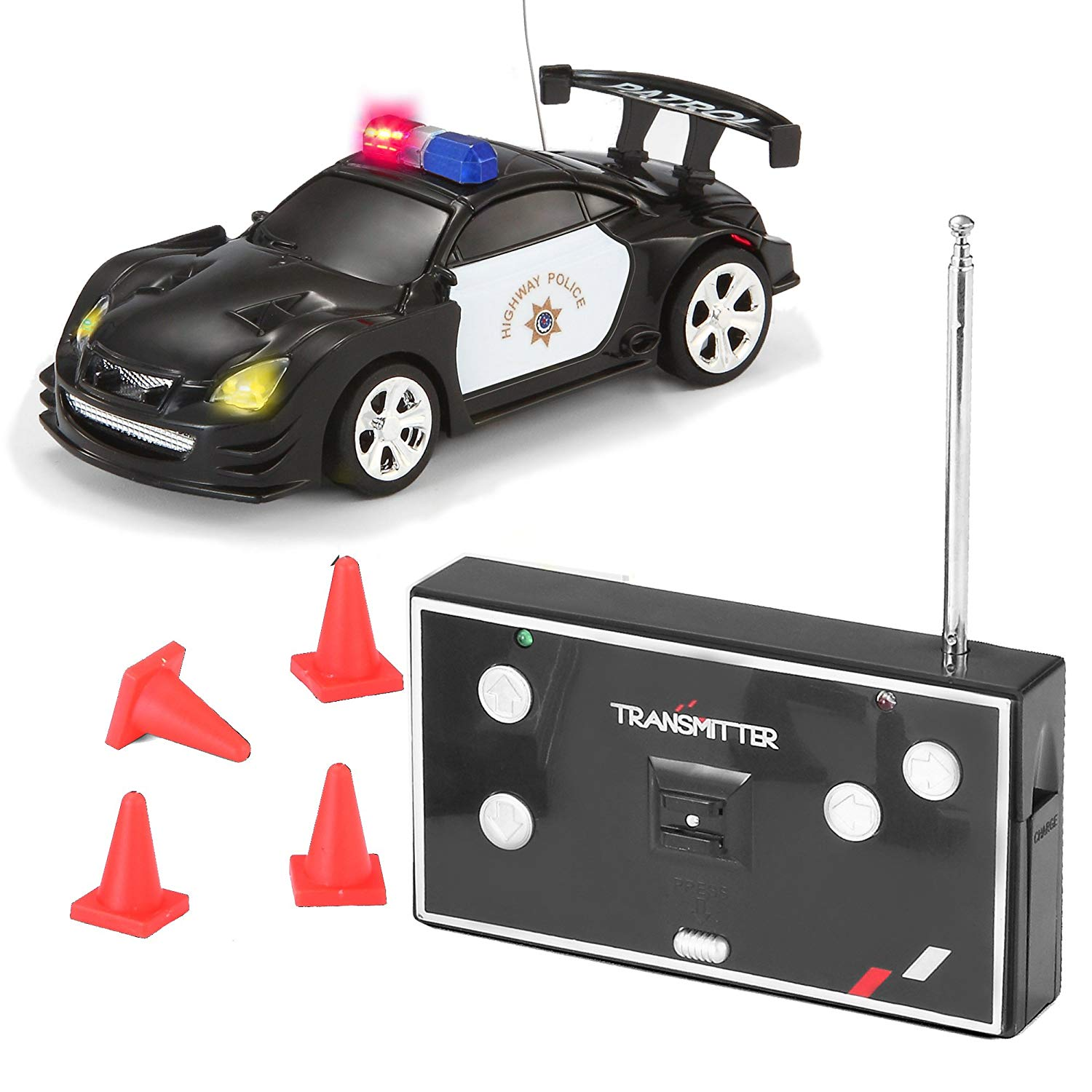 Joyin-Toy-RC-Remote-Radio-Control-Mini-Micro-Racing-Police-Car-Pocket-Race-Car-Toy-with-LED-Light-and-Siren-Sound