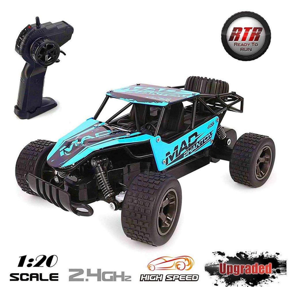 Lazaga RC Cars for kids, Lazaga Terrain RC Car, 1 20 All Terrain Remote Control High-Speed Telecar, Off road 2.4Ghz 2WD Remote Control Monster Truck, Best Christmas Gift for Kids and Adul