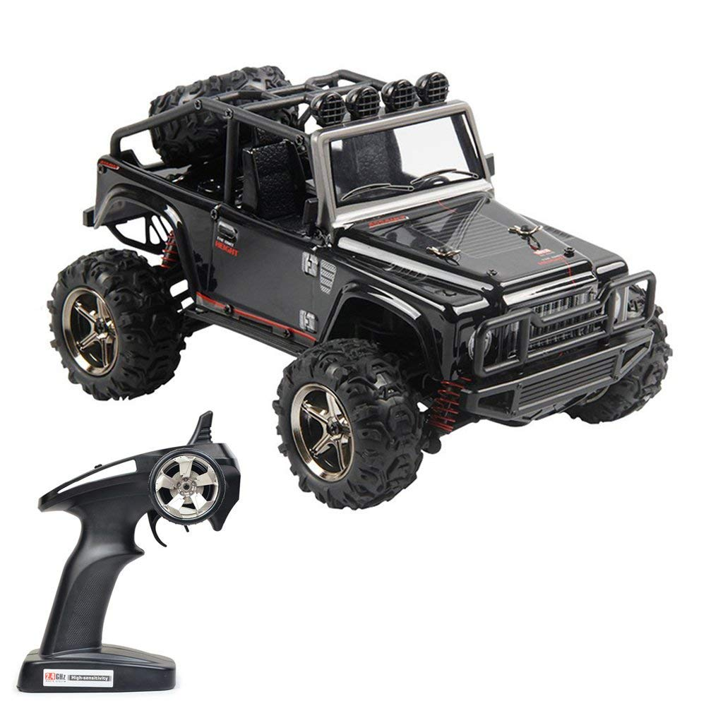 Tecesy RC Truck 1 22 Scale Electric Jeep 4WD 2.4Ghz Off-Road Drift RC Desert Buggy with Lights 25MPH BG1511A (Black)