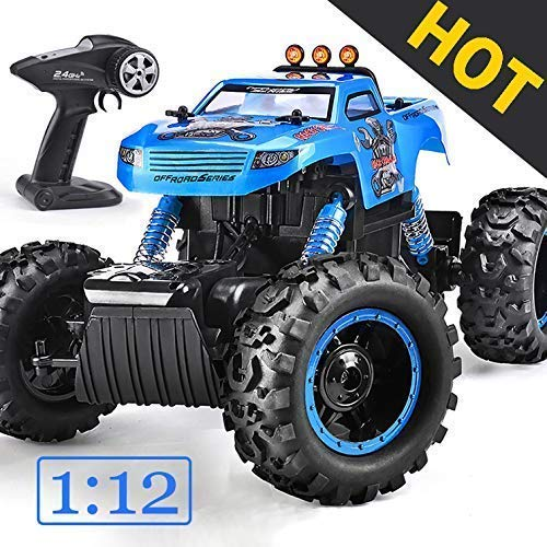NQD Remote Control Trucks Monster RC Car 12 Scale Off Road Vehicle 2.4Ghz Radio Remote Control Car 4WD High Speed Racing All Terrain Climbing Car Gift
