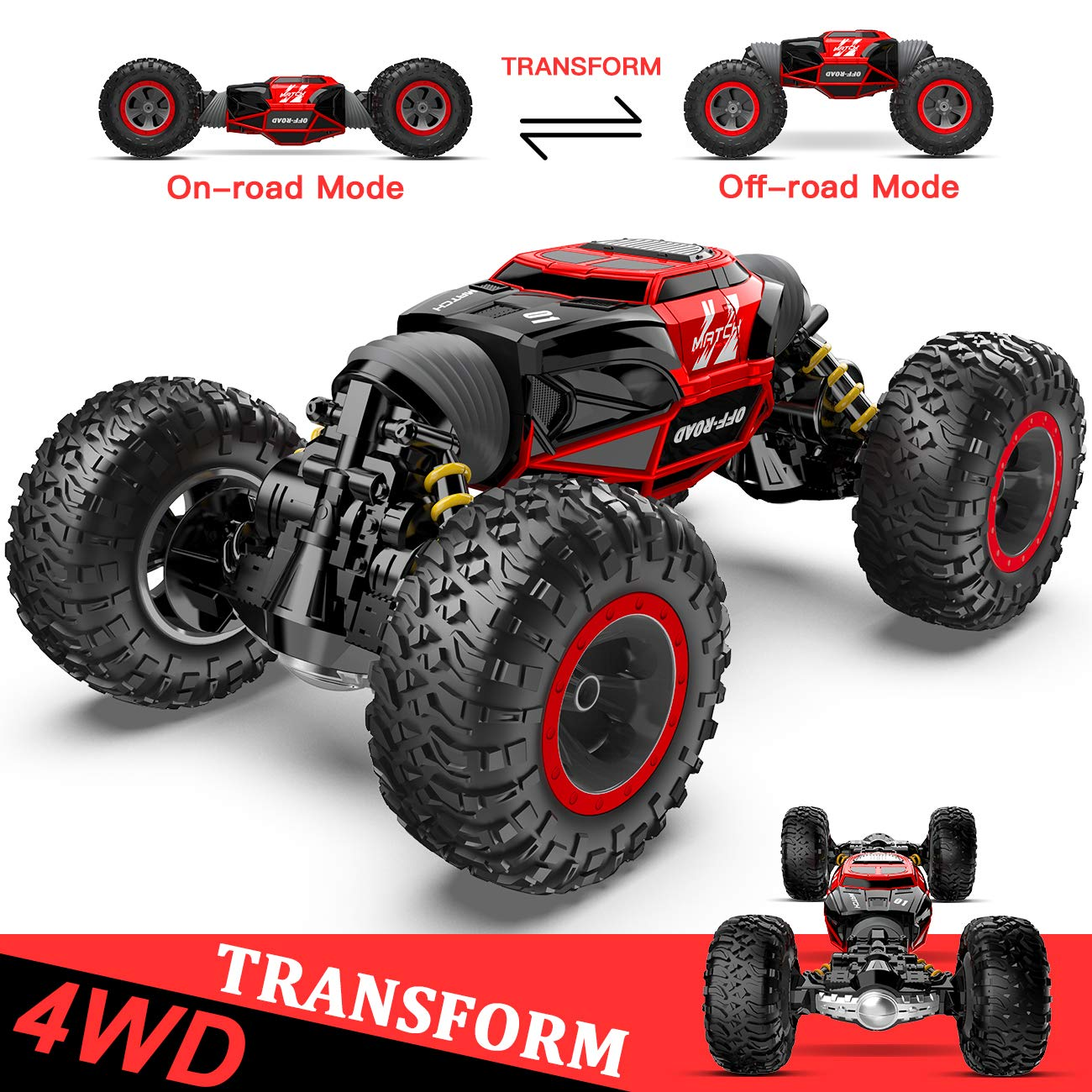 RC Car, R Speed Transform Car Remote Control Car Kids Toys Vehicles Buggy Hobby Car Transform Car Best Gift