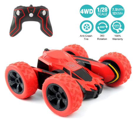 RC Cars Stunt Car Toy, Amicool 4WD 2.4Ghz Remote Control Car Double